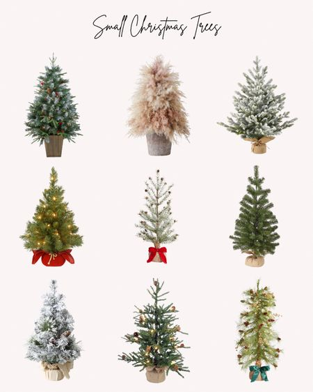 Small Christmas trees, 2 foot trees, 3 foot trees, holidays, decorations   Follow me for more ideas and sales.   Double tap this post to save it for later    #LTKHoliday #LTKSeasonal #LTKhome