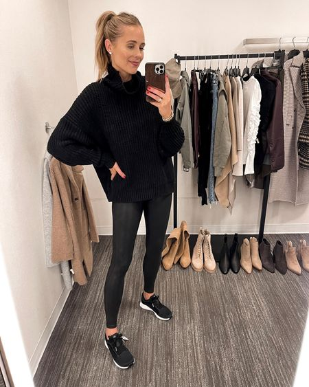 This is a great chunky knit sweater for under $80. Free People sweaters are some of my favorite during the fall/winter. Wearing an XS.  This sweater is great for a casual look with leggings, and my favorite Spanx faux leather leggings are included again this year! Fits TTS. I got these black adidas because I missed the all black pair last year. They're SO comfortable! #liketkit #nsale #nordstromsale #nordstromanniversarysale #nordstrom  #LTKsalealert #LTKunder100 #LTKunder50