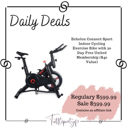Echelon Connect Sport Indoor Cycling Exercise Bike with 30 Day Free United Membership ($40 Value)  You can also do the peloton subscription and take all the peloton classes without the peloton bike.    http://liketk.it/3ib6W #liketkit @liketoknow.it #LTKfit #LTKsalealert #LTKhome