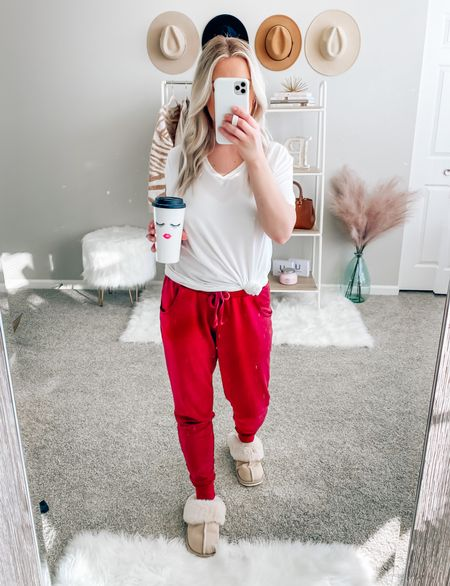SALE ALERT 🚨 my joggers and slippers are on major sale!!! These slippers are memory foam and are so comfortable 🙌🏻 they fit tts  #LTKHoliday #LTKsalealert #LTKSeasonal
