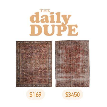 Rug, Home Decor, Vintage Rug, Save vs Splurge, Daily Dupe