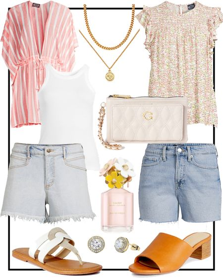 Walmart fashion outfit ideas… ALL UNDER $25!! 🤍 #ad Summer fashion, jean shorts, jewelry, shoes & designer perfume! 🙌🏼 @walmart @walmartfashion    http://liketk.it/3i7SP #liketkit @liketoknow.it #LTKunder50 #LTKsalealert #LTKstyletip