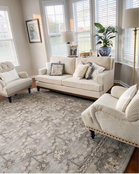 Formal living room Blue and white decor Living room rug Area rug Persian rug Sun room Southern living Preppy home decor Throw pillows Chinoiserie  Spring decor  http://liketk.it/37FzH @liketoknow.it #liketkit #LTKSeasonal #LTKhome #LTKsalealert