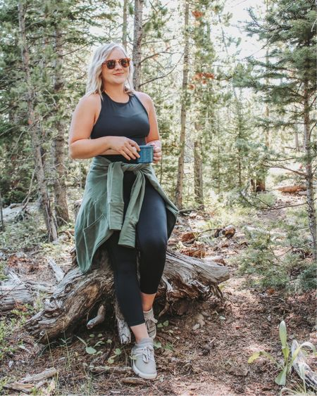 Fabletics 3 piece outfit- wearing medium in all pieces! Athletic wear, black leggings, high waisted leggings, high neck sports bra, athletic outfit, petite, athleisure, outdoor outfits, fall transition, amazon sunglasses. http://liketk.it/2TgBF #liketkit #LTKfit #LTKsalealert #LTKstyletip @liketoknow.it