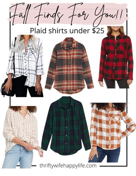 Fall plaid shirts under $25!   #LTKunder100 #LTKunder50 #LTKSeasonal