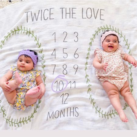 Can you believe the girls are now 10 months old?! Last Sat on the 20th, they reached the point where they only have 2 more months being 0 years old 😭  But on the bright side, these angels are happy, healthy & excited for warmer weather, Springtime (their birth season, after all) & lots of plans & outings in the near future! These Covid babies are ready to see the world & meet new people!  And warm weather & places to go brings cute new spring clothes! How cute are these lil outfits?! Linked them (and a few other Spring finds) in my Stories.  http://liketk.it/3bufX #liketkit @liketoknow.it #LTKSpringSale #LTKbaby #LTKunder50