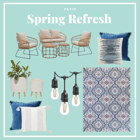 Spring Patio Refresh with all items available at Home Depot   #LTKhome #LTKSeasonal #LTKSpringSale