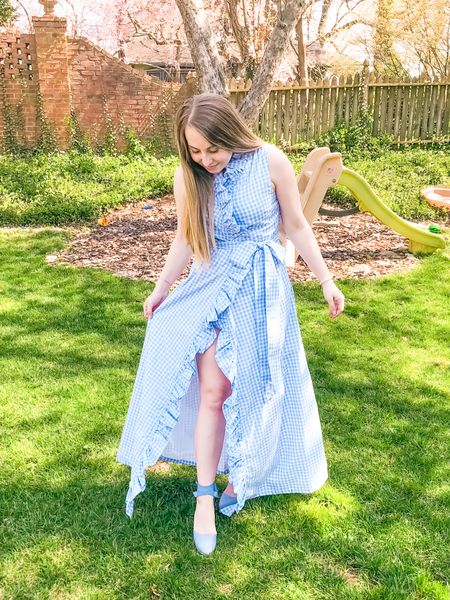 Blue & white gingham love! I linked some dresses I am currently eyeing for this season—along with these wedges that will be on heavy rotation!   #LTKunder100 #LTKSpringSale #LTKSeasonal @liketoknow.it #liketkit http://liketk.it/3c7vL