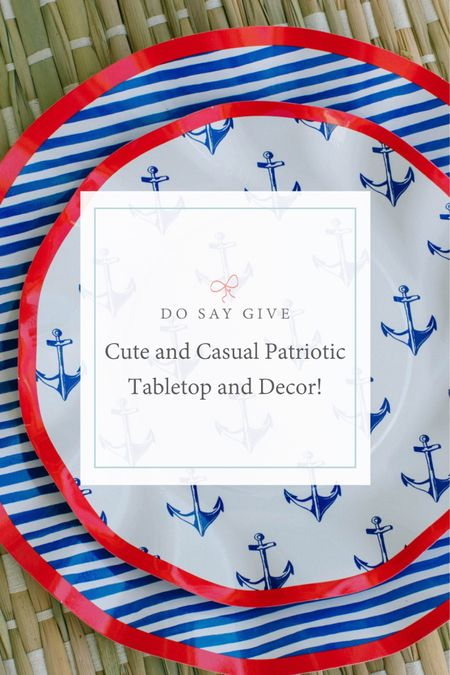 patriotic table decor, table decorations, tablescape, home entertaining, home decor, dinner party. http://liketk.it/3hUaS #liketkit @liketoknow.it @liketoknow.it.family @liketoknow.it.home