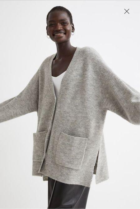 This gray cardigan looks designer but it's under $30!