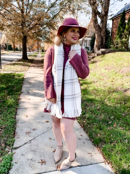 This adorable sweater dress and scarf are on sale for 20% off at Target today! Sweater dress sale price is $24, while the scarf is $11.90. Perfect midsize fall style   #LTKsalealert #LTKstyletip #LTKunder50