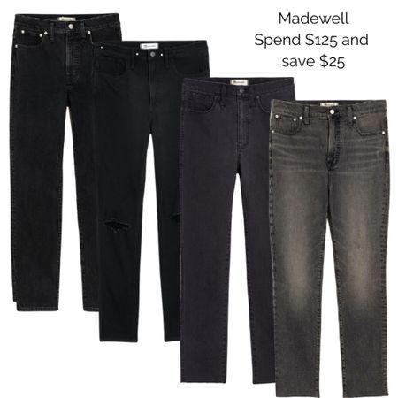 Shop the LTK Sale and save on Madewell Denim!  Jeans : Black Jeans : Fall Fashion  #LTKsalealert #LTKSale #LTKunder100