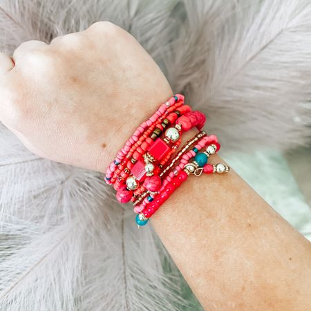 Code: BRITTANYH40 to save   Cute Summer bracelets 😍 only $12 with my code! They also come in blue + black!  . . .  http://liketk.it/3hKQd #liketkit @liketoknow.it #LTKstyletip #LTKunder50 #LTKunder100 bracelets, summer, summer bracelets, pink bracelets, bracelet stacks