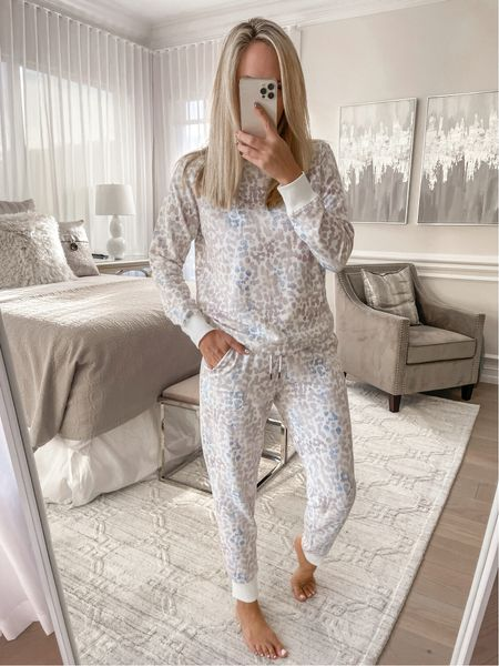 Cozy target find wearing a size medium in the top and a small and the pants, top runs a little small in the shoulder  #LTKsalealert #LTKunder100 #LTKunder50