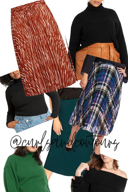 Plus size cropped sweaters that work well with skirts for fall!   #LTKSeasonal #LTKunder100 #LTKcurves