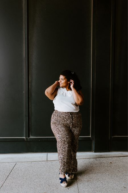 I'm headed to @summerfest again today and I wish I would have packed these beauties with me for my time here! They are perfect for hot summer days because the material is super light and airy.  The icing on the cake is that the 🐆 pants are in super sale from @nordstromrack  I guess I'll have to settle for wearing a different pair of animal print bottoms today!  If you want all the details of my outfit follow me in the @liketoknow.it app! #LTKcurves #LTKunder50 #liketkit http://liketk.it/2D1KP