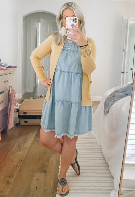 I snagged this dress from Impeccable Pig when I was in Charleston and I love it so so much! It may be sold out but I've linked some similar items. I honestly tried on so many dresses in their store and loved them all! This mustard cardigan is Walmart and is now my new fav cardi!  #LTKstyletip #LTKunder50 #LTKunder100