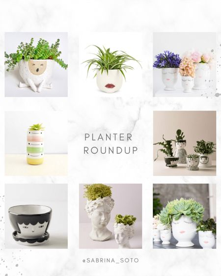 This gloomy weather has me dreaming 💭 of spring, so I'm doing a roundup of my favorite planters!   You can refresh your living space or workspace any time of the year and benefit from adding a lush, thriving green plant and colorful ceramic or stoneware pot to your environment.   Here are some tips for decorating with planters:  1. Mix interesting or engaging containers with living plants to add a focal point. Using different sized pots and complementary colors, group three plants together. Try to make one of the three larger to break up the visual look. Everything is better in groups of three.  2. Play with heights — use hanging planters, plant stands, different size pots, etc. Create a focal point, and use the other pieces to compliment it.   3. Choose planters that bring you JOY! That's a given, no explanation necessary. 🥰   How adorable are these?  Which one is your favorite? Linking them all in my bio to shop! http://liketk.it/3bn1D #liketkit @liketoknow.it #LTKhome #StayHomeWithLTK #LTKstyletip