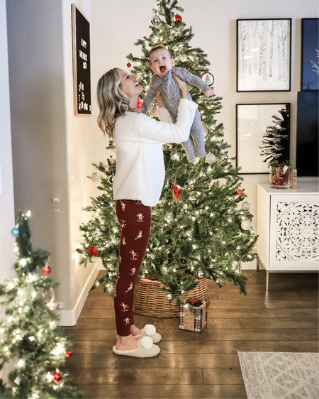Love these cozy Christmas jammies and my slippers are on sale for $8!! Size down one size in the @anthropologie sherpa pullover. It's so soft!  http://liketk.it/2IcUb @liketoknow.it #liketkit #LTKbaby #LTKsalealert #LTKholidaystyle