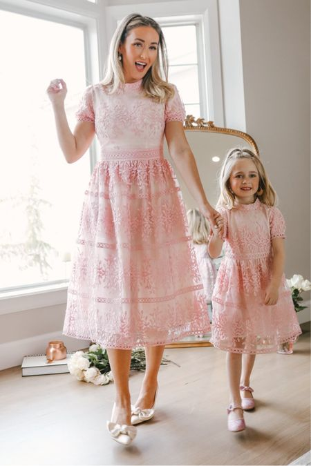 The CUTEST pink spring dress that's perfect for Easter, spring family photos, church, engagement session, or a wedding guest dress.   Tags: Sicily dress, pink midi dress http://liketk.it/3akCt #liketkit @liketoknow.it #LTKSeasonal #LTKwedding #LTKfamily