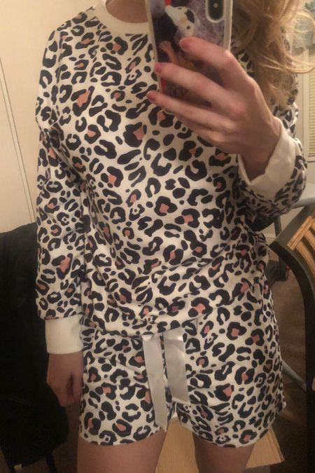 These leopard pjs are so cute and comfy!! Some of the softest that I have!! They come in 3 different colors. I have the leopard white. 😍I linked them below ! http://liketk.it/37LnO #liketkit @liketoknow.it #StayHomeWithLTK #LTKunder50 #LTKfamily @liketoknow.it.brasil @liketoknow.it.family @liketoknow.it.europe @liketoknow.it.home You can instantly shop my looks by following me on the LIKEtoKNOW.it shopping app