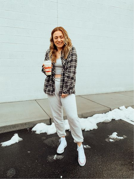 Favorite aerie sweatpants back in stock! 30% off today! Joggers lounge   #LTKunder50 #LTKstyletip