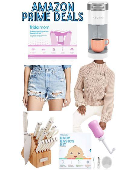 Amazon Prime Day deals! Frida Mom Postpartum Recovery Kit, White Single Cup Keurig, Free People Sweetheart Sweater, Levi 501 Shorts, Frida Baby Basics Kit, White Knife Set  http://liketk.it/3i7Z2 @liketoknow.it #liketkit #LTKsalealert #LTKbaby