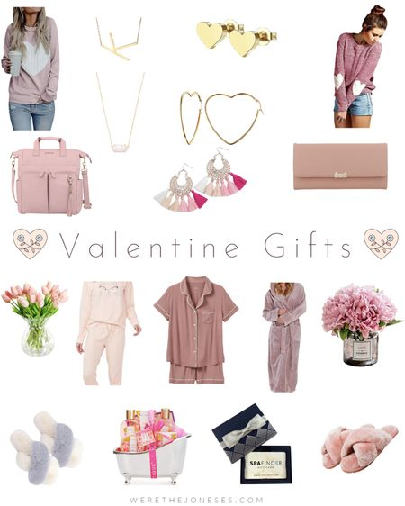 Valentine's Day gift ideas - gift card options and Prime two day shipping! 🎁 💨  . .  http://liketk.it/38079 #liketkit @liketoknow.it #LTKVDay #LTKunder100 #LTKunder50 Valentine's Day, gift ideas, gifts for her, slippers, heart jewelry, pajamas, lily jade, purse, blush pink bag, wallet