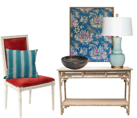 A fun and colorful Chinoiserie inspired entryway   #LTKhome