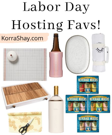 Labor Day hosting favs!  What you need to check out for your Labor Day party! Serving tray, outdoor blanket, drink mixers, beer chiller, wine chiller, beeswax paper, and table decor!  #LTKhome #LTKunder100 #LTKSeasonal