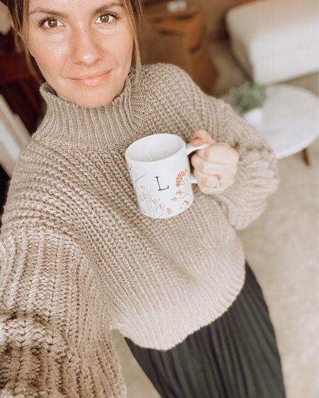 Simple sunday look - chunky sweater and a pleated skirt ✨ http://liketk.it/37hCs #liketkit @liketoknow.it #LTKstyletip #LTKunder100 #LTKunder50