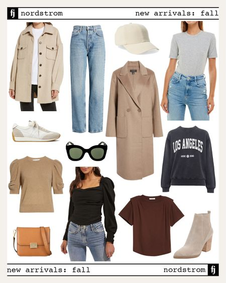 Nordstrom new arrivals for fall! Love all of these pieces to create effortless fall outfits #falloutfit #graphicswesyshirt #sneakers   #LTKunder50 #LTKunder100 #LTKstyletip