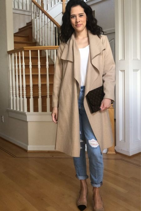 This lightweight, wool-blend coat from Chicwish is the perfect layering piece for spring and fall. Looks great dressed up or dressed down. Also linked slingback shoes like these (love how similar they are to the Chanel ones but at a more affordable price point!). @liketoknow.it http://liketk.it/3flHQ #liketkit #LTKshoecrush #LTKunder100