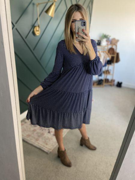 Tiered Midi Ruffle Dress Color: Blue Long Sleeve/TTS/wearing size S  #ifounditonamazon #amazonfashion #amazonfinds #outfitoftheday #ootd #outfitideas #outfitinspo #AmazonDress  #Amazonfalldress #amazonMidiDress   http://liketk.it/3pGaA @liketoknow.it #liketkit #LTKbeauty #LTKfit #LTKstyletip #LTKSeasonal