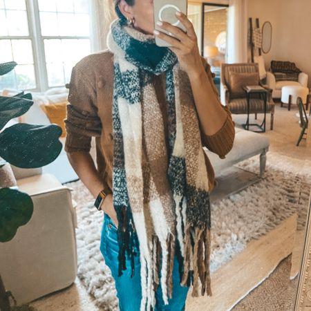 Softest plaid oversized scarf ever ON SALE 🙌🏼   #LTKSale #LTKSeasonal #LTKsalealert