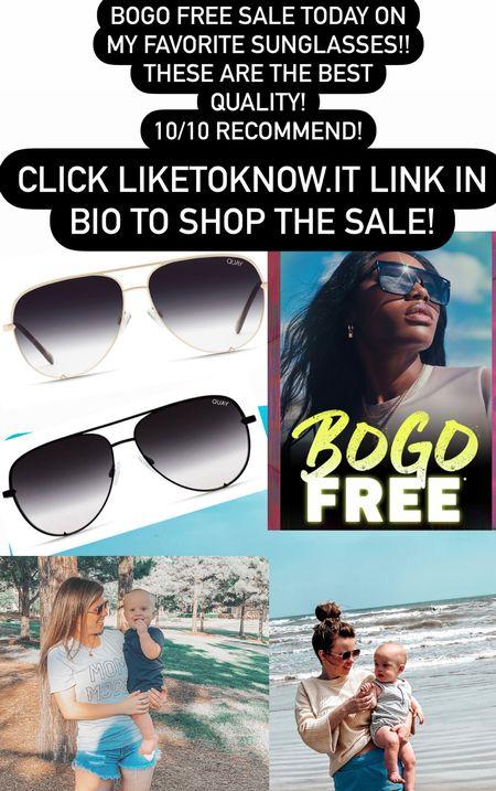 My absolute favorite sunglasses are buy one, get one FREE right now!! 10/10 recommend these!  #LTKsalealert #LTKSeasonal #LTKbeauty