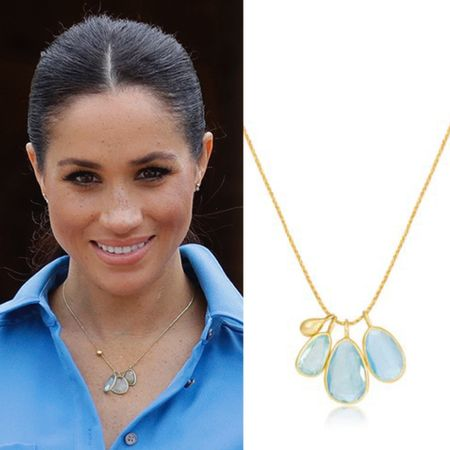 Meghan wearing Pippa Small necklace #chain #jewelry #gift