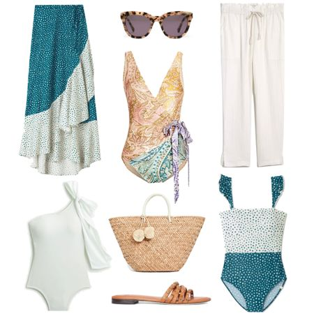 Beach resort style. Vacation outfits for beach vacation. One piece swimsuits, coverups and beach accessories   #LTKswim #LTKstyletip #LTKtravel