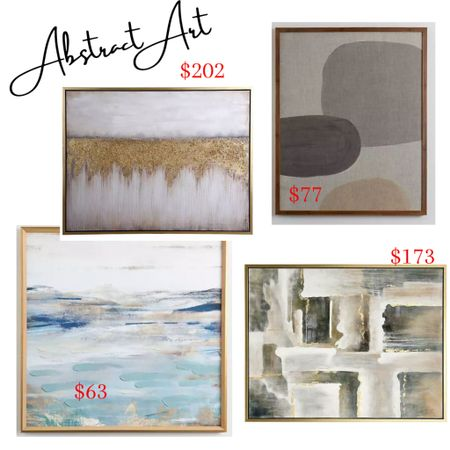 Abstract art for the home! The piece on the top right is more of masculine art and would look great in a single guys home!   #LTKhome #LTKmens #LTKsalealert