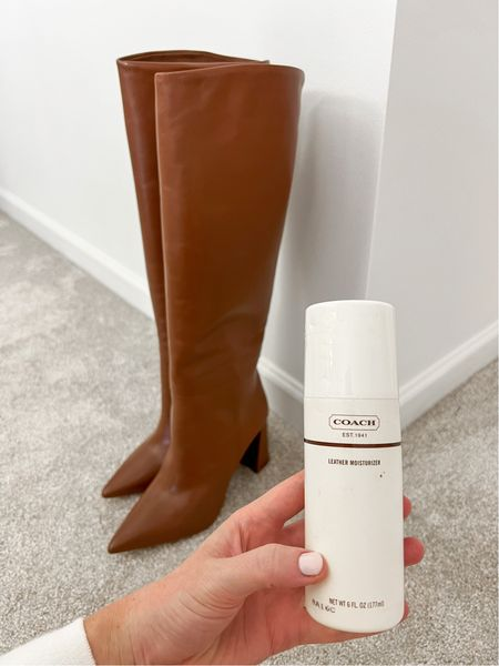 Used this leather moisturized to make my leather boots and handbags look good as new! I've had this for years and it's a closet essential!