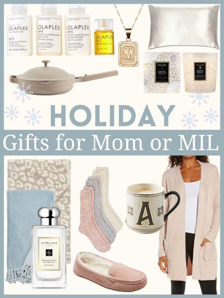 Holiday or Christmas gift ideas for Mom or Mother-in-law        Christmas gifts , gifts for her , gifts for mom , gifts for mother-in-law , gift guide , holiday gifts , nordstrom style , jo Malone , barefoot dreams , Anthropologie , initial mug , initial necklace , olaplex , #ltkunder100 #ltkunder50 #ltkbeauty #ltkshoecrush , target style , target finds , cardigan , cardigan sweater #ltksalealert #ltkeurope  #LTKhome #LTKHoliday #LTKGiftGuide