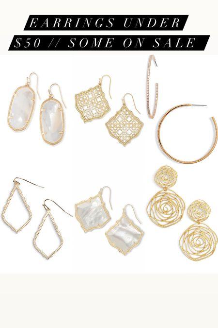 Gold earrings under $50 on sale   #LTKwedding #LTKunder50 #LTKsalealert