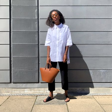 This is one of my favourite outfits. I love wearing oversized shirts (especially  creased ones🙃) and if you hadn't already guessed, I can't get enough of this bag 🤤 http://liketk.it/2ShBa #liketkit @liketoknow.it #LTKeurope #LTKspring @liketoknow.it.europe Download the LIKEtoKNOW.it shopping app to shop this pic via screenshot