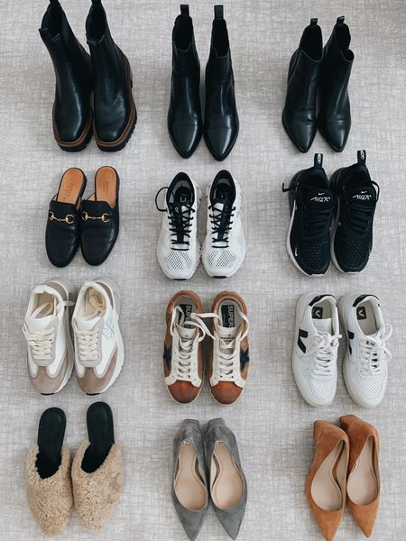 5 must-have fall shoe styles:  1. Pumps 2. Casual sneakers 3. Mules/loafers 4. Boots 5. Athletic sneakers     #LTKshoecrush