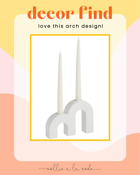 This arched tapered candle holder is so cute and boho! Only $15. #homedecor #bohodecor   #LTKhome #LTKunder50
