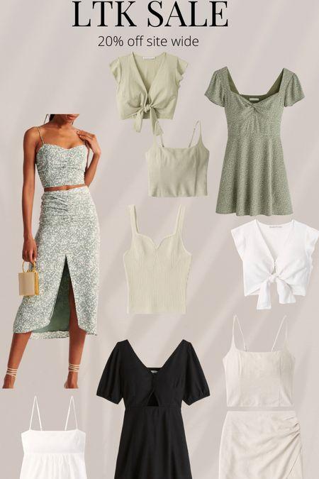 Crop top Spring sale Abercrombie  Vacation outfits   #LTKunder100 #LTKSeasonal #LTKDay