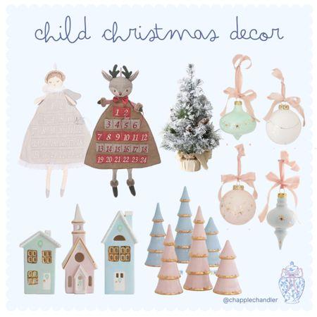 Child Christmas Decor Baby toddler room home decor kids bedroom design accents advent calendar ornaments Christmas tree mini Christmas tree Hanukkah Christmas village    #LTKHoliday #LTKGiftGuide #LTKkids