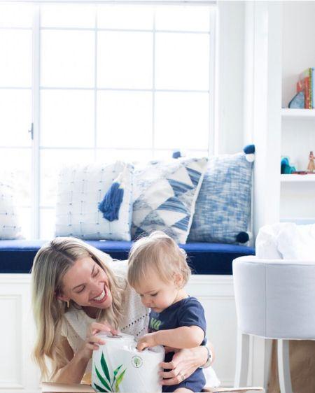 Added these patterned blue pillows to the nursery bay window. #liketkit http://liketk.it/2CCOS @liketoknow.it #bluepillows #nurserydecor #
