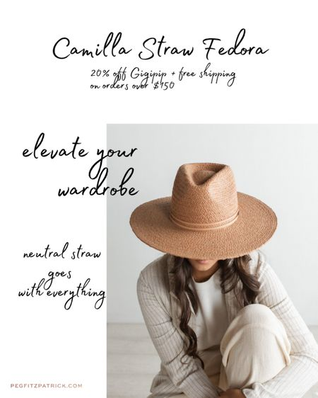 Camilla Straw Fedora will be great for everyday and super cute for your Instagram pics. And for sun protection! http://liketk.it/3bjfa #liketkit @liketoknow.it #LTKSpringSale #LTKunder100 #LTKsalealert