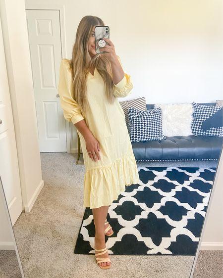 Yellow Puff Sleeve Dress   http://liketk.it/3hZq7    #liketkit @liketoknow.it